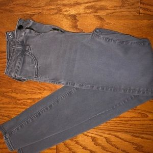 American eagle gray high rise jeans